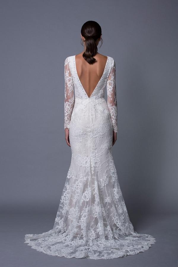 Zoe Long Sleeve Lace Wedding Dress from Lihi Hod