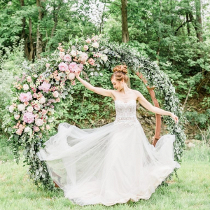 Round floral arches