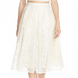 'Marietta' Lace Organza Full Skirt