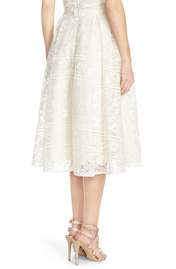 'Marietta' Lace Organza Full Skirt Back
