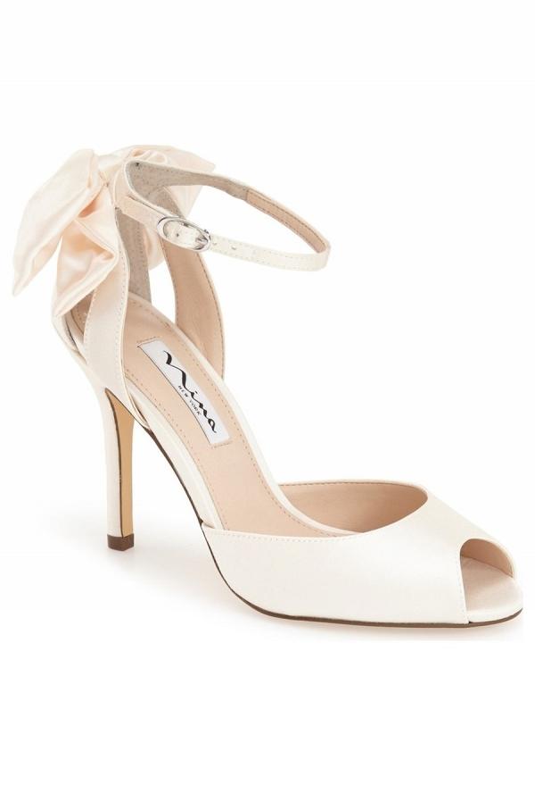 'Mileena' Bow Back Bridal Sandal