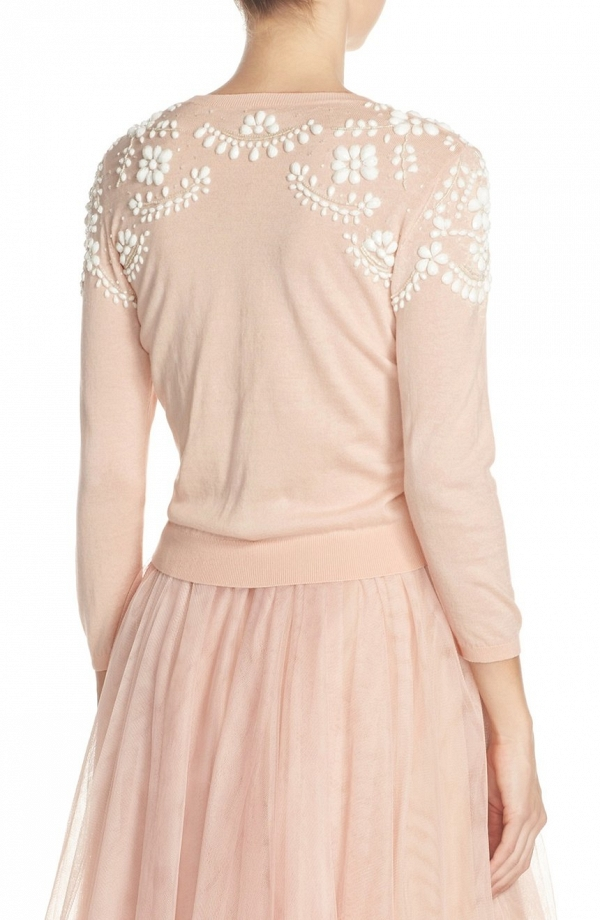 'Millie' Beaded Cotton Blend Bridesmaid Sweater