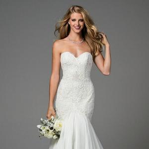 'Minerva' Embellished Silk Chiffon Mermaid Wedding Dress