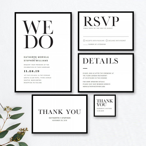 Minimalist Wedding Stationery Suite