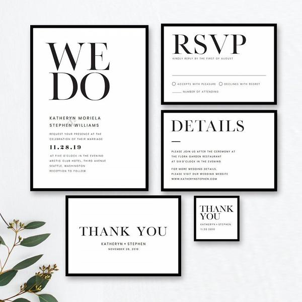 Minimalist Wedding Stationery Suite