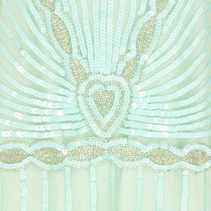 Mint Art Deco Bridesmaid Dress Beading