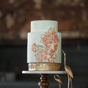 Art Nouveau Floral Wedding Cake