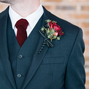 Marsala & Navy Groom's Attire