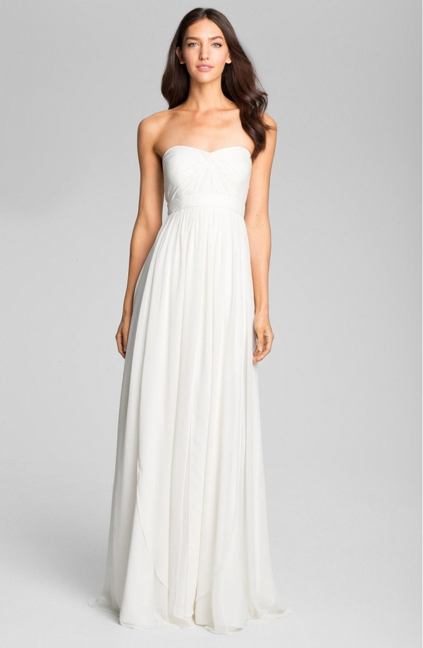 'Monarch' Sweetheart Neckline Layered Chiffon Wedding Dress