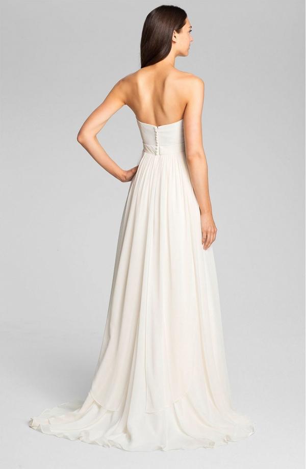 'Monarch' Layered Chiffon Wedding Dress Tain