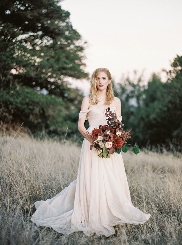Bride in off the shoulder gown