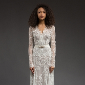Long Sleeve Lace Wedding Dress - Symphony by Katya Katya Shehurina