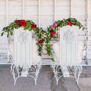 Mr & Mrs Velvet Chair Covers
