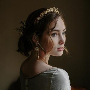 Gold Laurel Wreath Bridal Crown from Erica Elizabeth Designs
