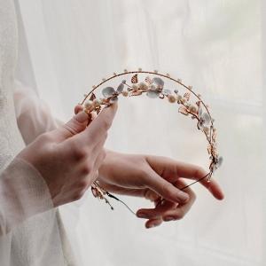 Bellatrix Rose Gold Bridal Crown from Erica Elizabeth Designs