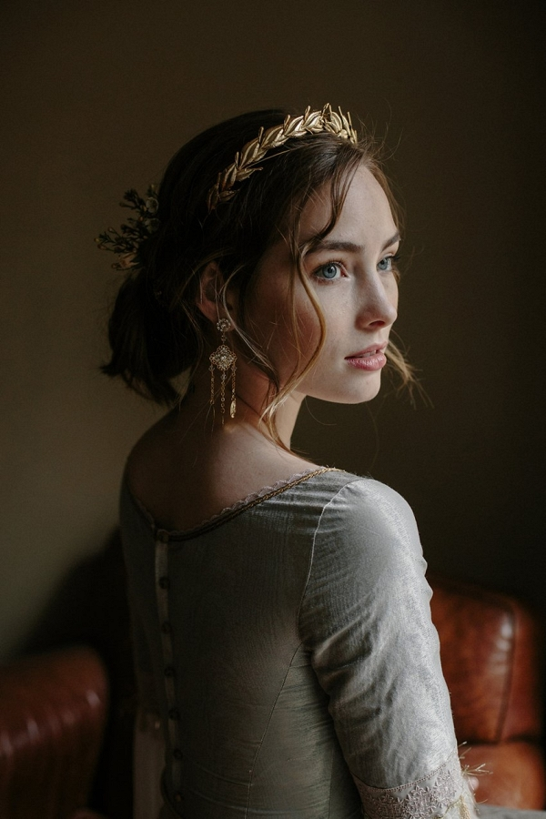 Gold Laurel Wreath Bridal Crown from Erica Elizabeth Designs