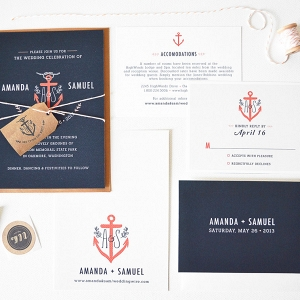 Nautical Anchor Wedding Stationery Suite