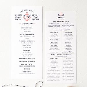 Nautical Anchor Wedding Information Card