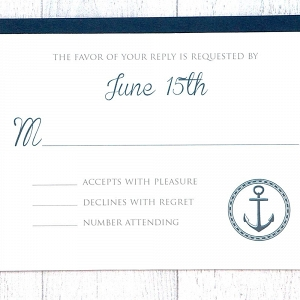 Nautical Wedding RSVP