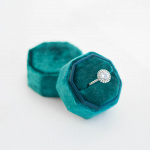Octagonal Velvet Ring Box