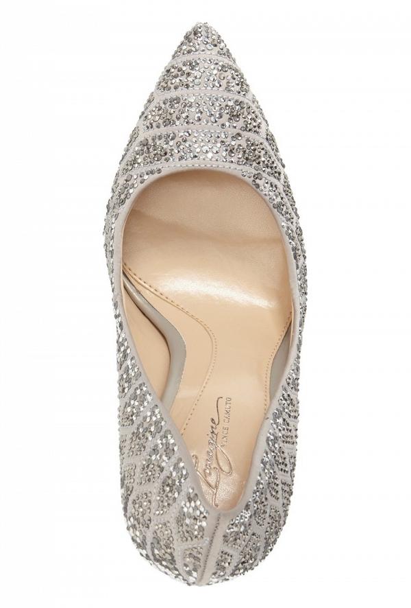 'Olivier' Pointy Toe Bridal Pump