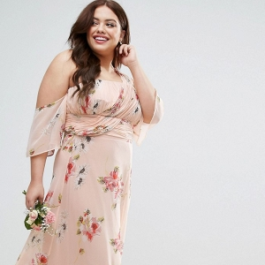 Floral Maxi Bridesmaid Dress
