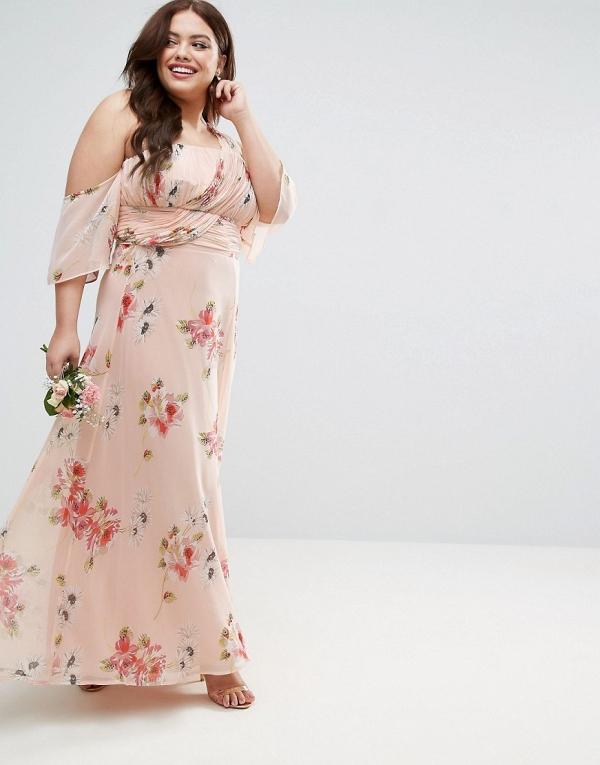 Floral Maxi Bridesmaid Dress