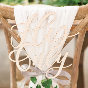 'His Only' Wedding Chair Sign