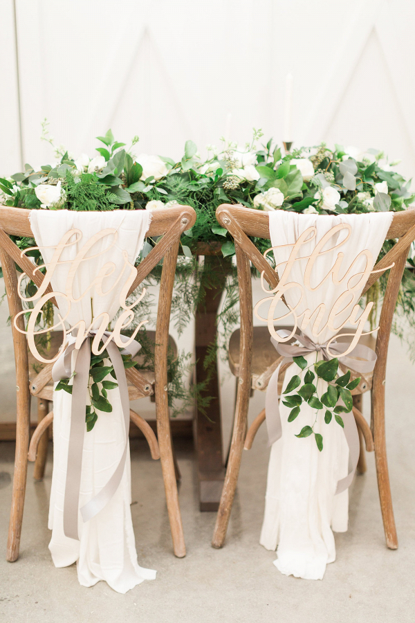 Lasercut Wedding Chair Signs