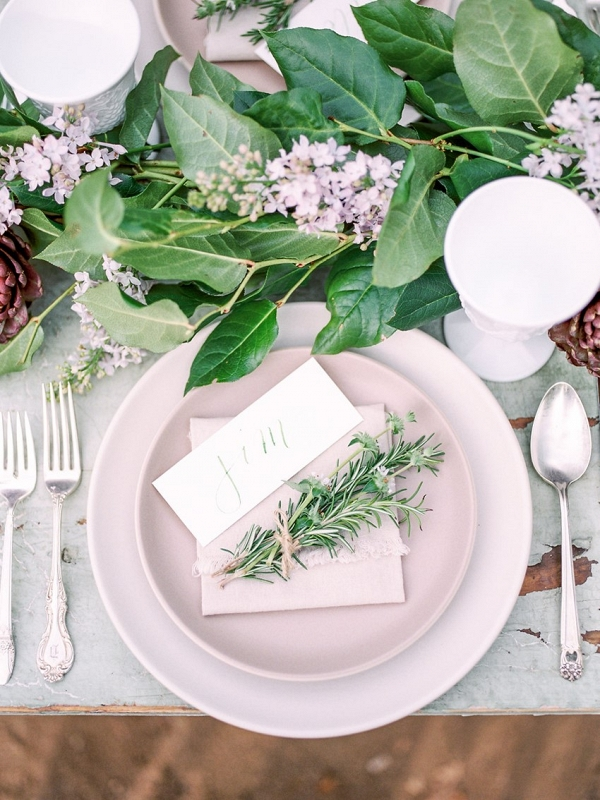 Organic Farm to Table wedding inspiration from Chic Vintage Brides