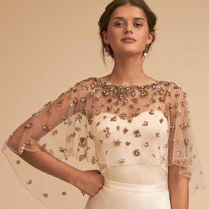 Embellished Bridal Cape