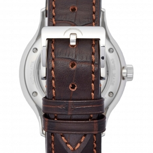 'Pangaea Day Date' Automatic Single Hand Leather Strap Watch, 40mm