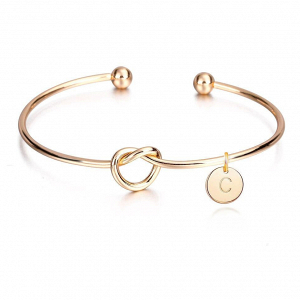 Personalised Bridesmaid Cuff Gold