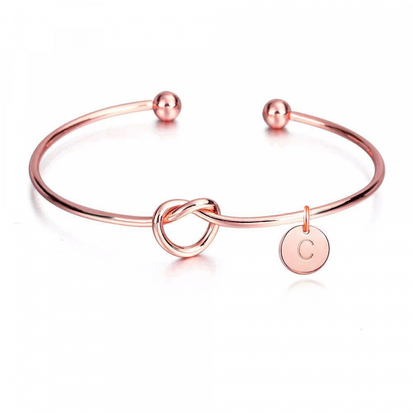 Personalised Bridesmaid Bracelet Rose Gold