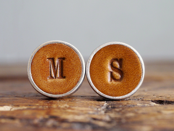 Personalised Leather Cuff Links