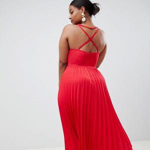 bf13426c2c0 Plus Size Curve Pleated Midi Dress