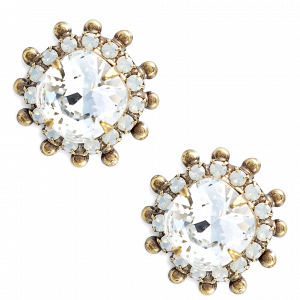 Protea Stud Crystal Earrings