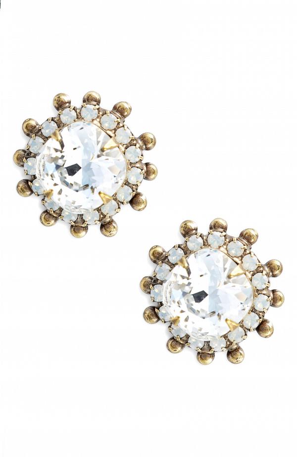 Protea Stud Crystal Earrings