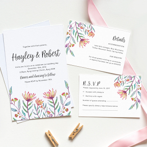Protea Printable Wedding Invitation Suite