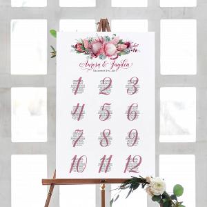Printable Protea Wedding Seating Chart