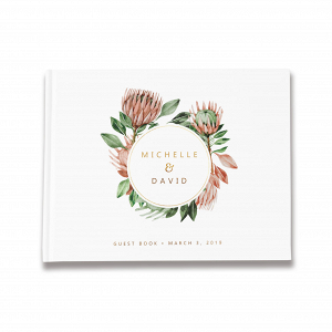 Protea Wedding Guest Book