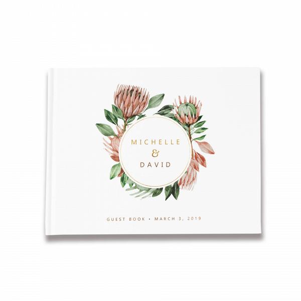 Protea Wedding Guest Book