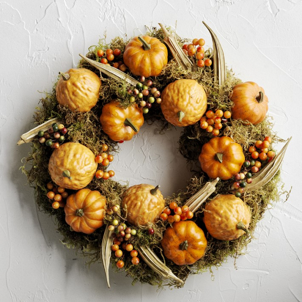Pumpkins & Berries Wreath