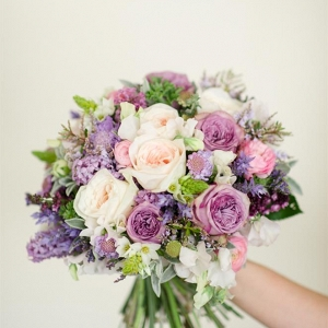 Purple & Pink Spring Bridal Bouquet