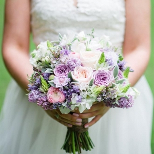 Romantic Purple & Pink Spring Bridal Bouquet
