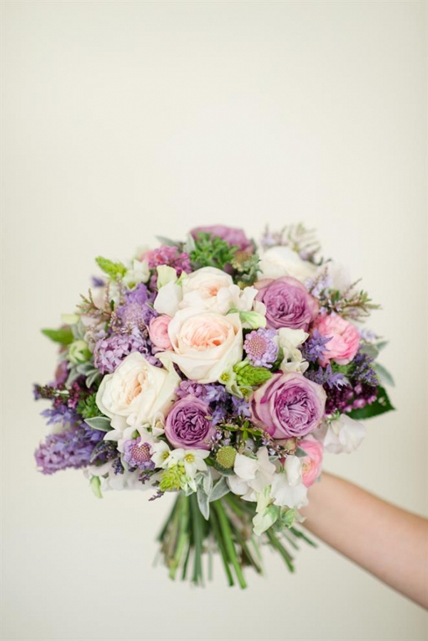Purple & Pink Spring Bridal Bouquet