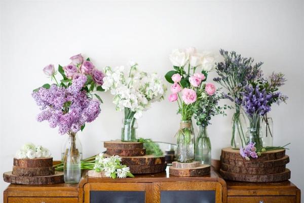 Purple & Pink Spring Flowers
