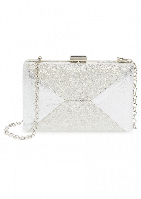 'Quarto' Silver Box Bridal Clutch