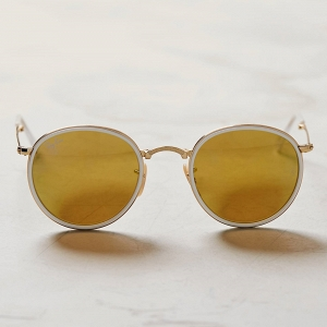 Ray-Ban Folding Round Yellow Sunglasses