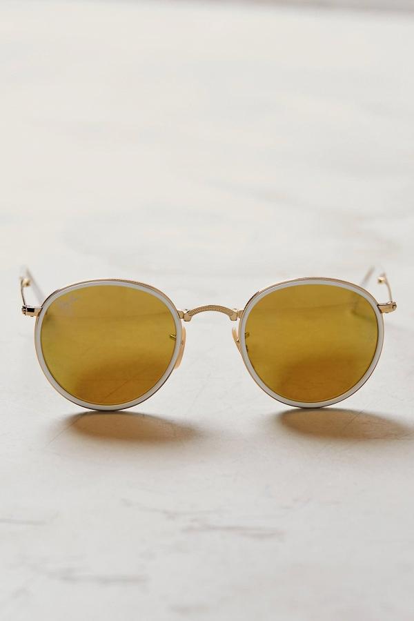 Ray-Ban Folding Round Yellow Sunglasses